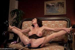 Brunette MILF gal in sexy lingerie drill - XXX Dessert - Picture 13