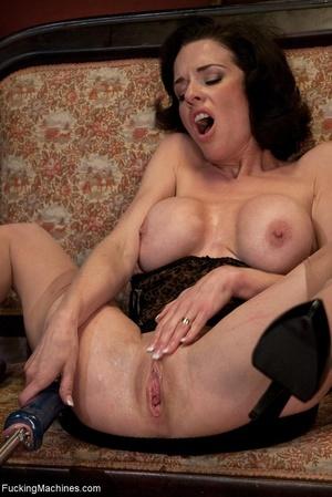 Brunette MILF gal in sexy lingerie drill - XXX Dessert - Picture 14
