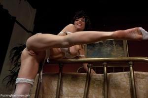Brunette MILF in white lingerie playing  - XXX Dessert - Picture 10