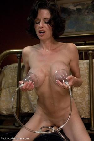 Brunette MILF in white lingerie playing  - XXX Dessert - Picture 13