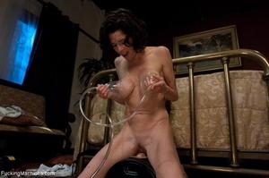 Brunette MILF in white lingerie playing  - XXX Dessert - Picture 14