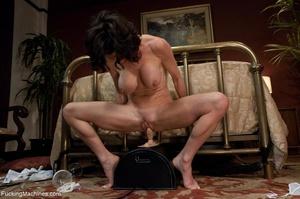 Brunette MILF in white lingerie playing  - XXX Dessert - Picture 15