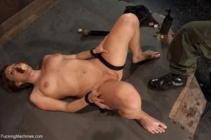 Tied up bitch eats a apple and gets ramm - XXX Dessert - Picture 10