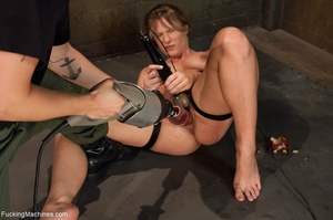 Tied up bitch eats a apple and gets ramm - XXX Dessert - Picture 13