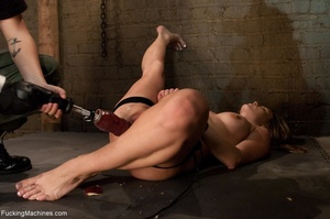 Tied up bitch eats a apple and gets ramm - XXX Dessert - Picture 15
