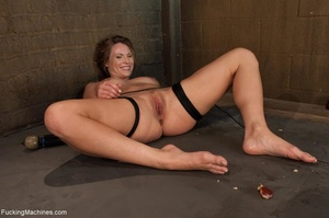 Tied up bitch eats a apple and gets ramm - XXX Dessert - Picture 17