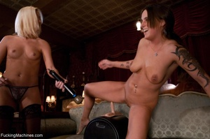 Two luscious porn ladies playing with th - XXX Dessert - Picture 13