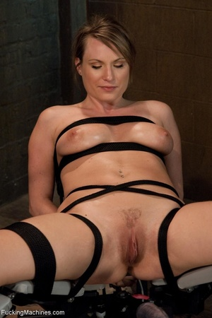 Tied up blonde honey getting her smooth  - XXX Dessert - Picture 1