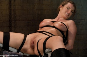 Tied up blonde honey getting her smooth  - XXX Dessert - Picture 2