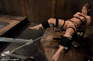 Tied up blonde honey getting her smooth  - XXX Dessert - Picture 3
