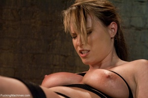 Tied up blonde honey getting her smooth  - XXX Dessert - Picture 6