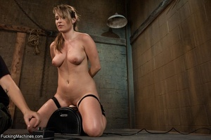 Tied up blonde honey getting her smooth  - XXX Dessert - Picture 11