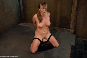 Tied up blonde honey getting her smooth  - XXX Dessert - Picture 13