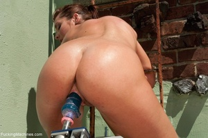 Brunette lady with a natural body using  - XXX Dessert - Picture 7