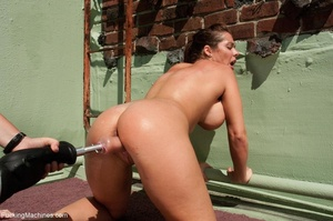 Brunette lady with a natural body using  - XXX Dessert - Picture 10