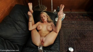 Blonde lady using a sybian and getting d - XXX Dessert - Picture 3