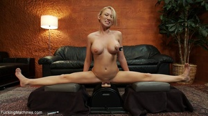 Blonde lady using a sybian and getting d - XXX Dessert - Picture 12