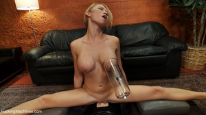 Blonde lady using a sybian and getting d - XXX Dessert - Picture 15