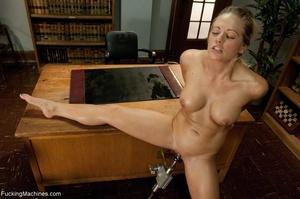 Busty gal using her sex machine to pleas - XXX Dessert - Picture 4