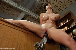 Busty gal using her sex machine to pleas - XXX Dessert - Picture 5