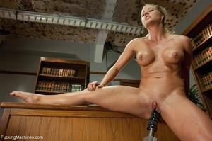 Busty gal using her sex machine to pleas - XXX Dessert - Picture 6