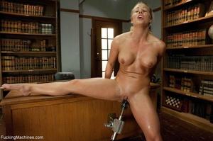 Busty gal using her sex machine to pleas - XXX Dessert - Picture 7