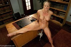 Busty gal using her sex machine to pleas - XXX Dessert - Picture 8