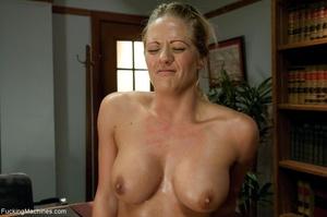 Busty gal using her sex machine to pleas - XXX Dessert - Picture 9