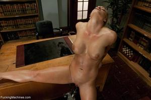 Busty gal using her sex machine to pleas - XXX Dessert - Picture 10