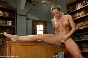 Busty gal using her sex machine to pleas - XXX Dessert - Picture 11