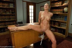 Busty gal using her sex machine to pleas - XXX Dessert - Picture 12