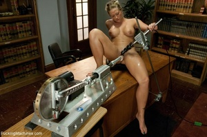 Busty gal using her sex machine to pleas - XXX Dessert - Picture 13