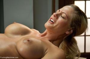 Busty gal using her sex machine to pleas - XXX Dessert - Picture 14
