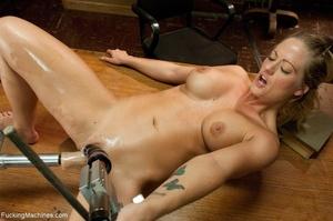 Busty gal using her sex machine to pleas - XXX Dessert - Picture 15