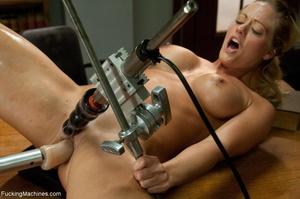 Busty gal using her sex machine to pleas - XXX Dessert - Picture 16