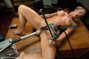 Busty gal using her sex machine to pleas - XXX Dessert - Picture 17