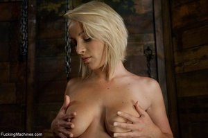 Sweet blondie gets tied up and drilled w - XXX Dessert - Picture 2