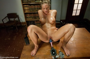 Oiled up blonde honey gets her both hole - XXX Dessert - Picture 3