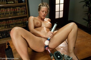 Oiled up blonde honey gets her both hole - XXX Dessert - Picture 4
