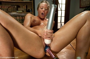 Oiled up blonde honey gets her both hole - XXX Dessert - Picture 6