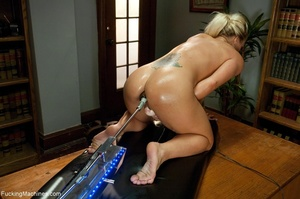 Oiled up blonde honey gets her both hole - XXX Dessert - Picture 18