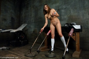 Long haired woman plays with her sex toy - XXX Dessert - Picture 2