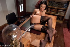 Wild raven haired honey in stockings dri - XXX Dessert - Picture 3