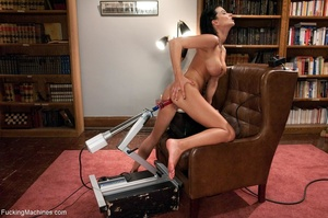 Wild raven haired honey in stockings dri - XXX Dessert - Picture 17
