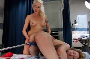 Two blonde sluts in sexy stockings getti - XXX Dessert - Picture 13
