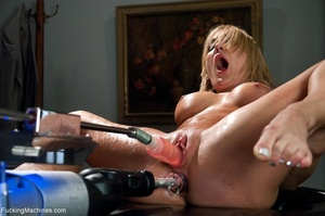 Blonde gal gets her tight holes drilled  - XXX Dessert - Picture 11
