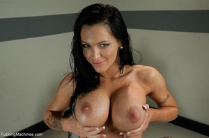 Busty brunette bitch loves to squirts an - XXX Dessert - Picture 18