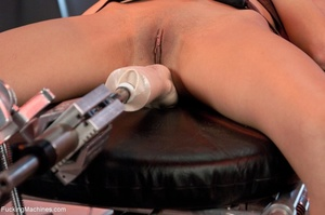 Dark haired girl gets tied up and drille - XXX Dessert - Picture 2