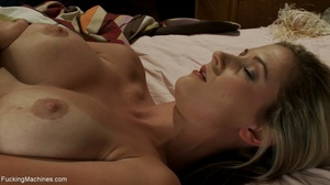 Blonde with huge tanned titties using so - XXX Dessert - Picture 5