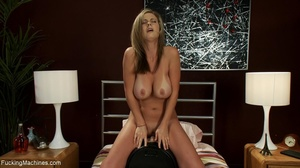 Blonde with huge tanned titties using so - XXX Dessert - Picture 17
